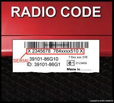 █► RADIO CODE passend für Bosch Suzuki - MAGYAR - IGNIS MSC CC-CD - ENTSPERREN