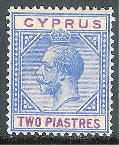 Cyprus1921 blue/purple 2p multi-script mint SG92