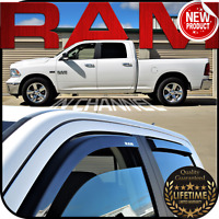 2009-2018 Ram Crew Cab In Channel Window Deflector Vent Visor Rain Guard Shade