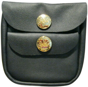 """BRIGHT GOLD BUTTON  POUCH W/ MAGNETIC CATCH FITS  4"""" BELT-  KEYS, MONEY, CARDS"""