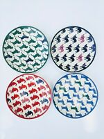 Draper James Grace and Charm - Crate and Barrel - Set of 4 Dog Appetizer Plates