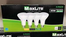 LOT OF 20 Maxlite 65W 2700K LED Dimmable Soft White Flood Light Bulb BR 30-E26