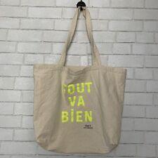 Clare Vivier Tote Canvas Bag Tout Va Bien Earth Friendly