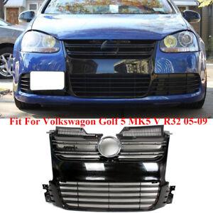 Black Mesh Air Intake Front Bumper Grille Fit For VW Golf 5 V MK5 R32 2005-2009