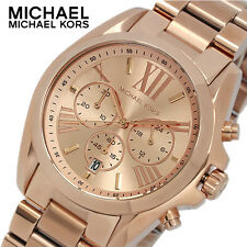 MICHAEL KORS MK5503 LADIES ROSE GOLD BRADSHAW WATCH - 2 YEAR WARRANTY