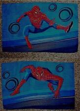 Marvel SPIDER MAN Movie Dark Blue TWIN 3 pc. Bedding Sheet Set _ Nice Clean EUC