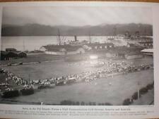 Fiji Suva water front printed photograph 1942