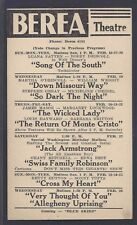 1947 BEREA THEATRE OH CLASSIC MOVIE THE WICKED LADY J MASON, SEE INFO