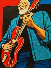 JORMA KAUKONEN PRINT poster blues guitar hot tuna amplifier jefferson airplane
