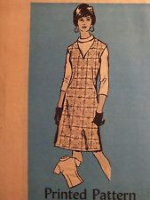Lovely VTG 70s Mail Order #4512 Misses Blouse & V-Neck Jumper PATTERN 14/36B
