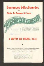 """BEUVRY-LEZ-ORCHIES (59) SEMENCES & Pommes de Terre """"Ets GRAVELINE ,DUBOIS & Cie"""""""
