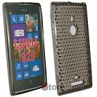 Cover Custodia Per Nokia Lumia 925 Silicone Gel TPU Nero + Pellicola Display