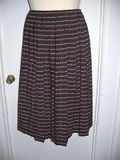 Sz 18 Koret Black/Red/Ecru Skirt (Career)        -181*