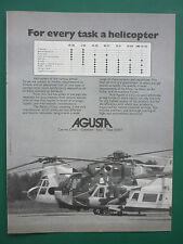 8/1974 PUB AGUSTA HELICOPTER AGUSTA BELL AB 206 A 109 AB 212 HUBSCHRAUBER AD