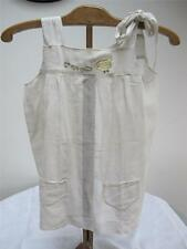 VINTAGE 1930's YOUNG GIRLS WHITE EMBROIDERED APRON PINNY PINAFORE - HEN & CHICKS