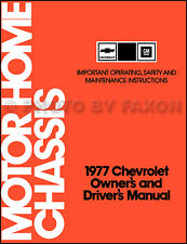 Repair manuals literature for chevrolet p30 ebay 1977 chevolet motor home chassis owners manual chevy p30 motorhome owners guide fandeluxe Gallery