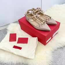 Valentino Rockstud Leather Flats - Size 36