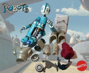 """ROBOTS 12"""" Rodney Copperbottom BUILD 'n BATTLE FIG 2004 Mattel RARE DISNEY"""