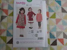 Burda 9428 Girls Kids toddlers dress top Pattern size 24 months to 7