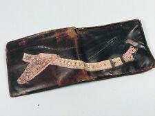 Vintage worn Leather Western Cowboy wallet