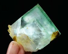77g NATURA transparent purple phantom Blue Cube FLUORITE Mineral Specimen/China