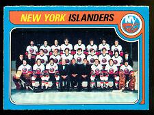 1979 80 OPC  O PEE CHEE 253 NEW YORK N Y ISLANDERS TEAM UNMARKED NM HOCKEY CARD