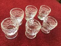 Set of Cut Crystal Glass Egg Cups (35)