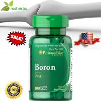 BORON 3 MG HEALTHY STRONG BONES INCREASE METABOLISM DIETARY SUPPLEMENT 100 TABS