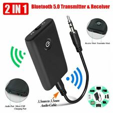 More details for wireless bluetooth 5.0 transmitter receiver a2dp 3.5mm audio jack aux adapter