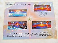 """September 4th, 1992 Mission To Planet Earth """"United Nations"""" Stamp Sheet"""
