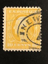 Stamp Usa 1909 10 C. Used George Washington Rare
