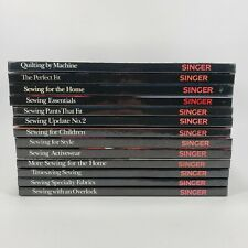 Lot Of 13 Singer Sewing Reference Library Books 1987 Vintage Clothing Fabric Euc