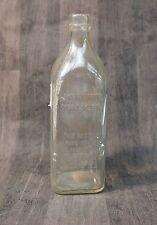 Johnnie Walker Old scotch Glass Embossed Bottle Vintage
