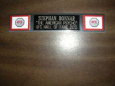 STEPHAN BONNAR (UFC) NAMEPLATE FOR SIGNED TRUNKS DISPLAY/PHOTO/PLAQUE