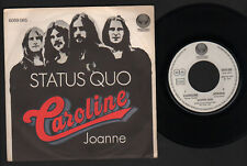 "7"" STATUS QUO CAROLINE / JOANNE VERTIGO ITALY 1973 HARD PROGRESSIVE BLUES ROCK"