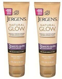 2 x Jergens Natural Glow 3 Days To Glow Moisturizer Fair to Medium 4oz FREESHIP