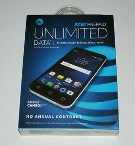 """Brand New Sealed Box, AT&T Prepaid Alcatel Cameox 16GB 5"""" Android 7.0 Smartphone"""