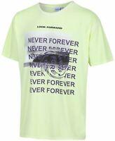 Corella Mens T-Shirt Neon Yellow Size Medium M Never Forever Graphic Tee $30 480