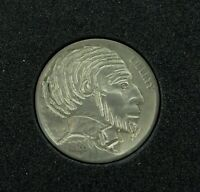 ".HOBO NICKEL 1928 ""ABRAHAM LINCOLN"" SIGNED by J ALLEN. #10"