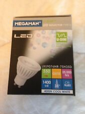MEGAMAN GU10 DIMMABLE LED BULB - 4000K COOL WHITE - 7W HIGH OUTPUT - 550 LUMENS