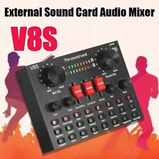Sound Card V8S Audio Interface USBMicrophone Mixer Headset Stereo Live Broadcast