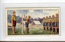 (Jc3355-100)  OGDENS,BOY SCOUTS,HOISTING THE FLAG,1929,#30