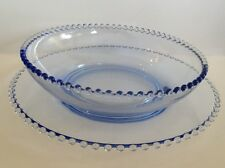 Imperial Candlewick Viennese Blue console bowl and plate 400/13
