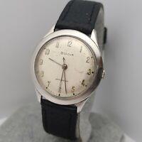 Vintage BULOVA 11AFC 17Jewels Men's manual winding  watch SWISS 1959