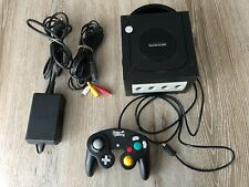 Nintendo Game Cube Console Black Complete with Under-Control Controller.