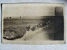 RPPC HAY WAGON & MEN COMING IN FROM WORK IN THE VALLEY REAL CYKO PHOTO POSTCARD