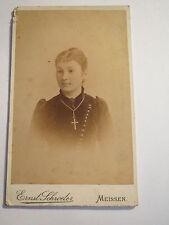 Meissen-Lina/Sina diga da zschepa come giovane donna-Portrait/CDV