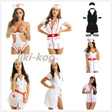 Women Ladies Sexy Naughty Nurse Costume Outfit Cosplay Party Fancy Dress Costume