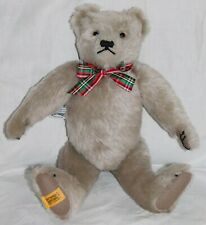"Merrythought 15"" Silver Grey Jointed Teddy Bear Tagged Side & Foot Made England"