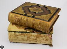 2V Antique FAMILY BIBLES Genealogy Color Plates Decorative Bindings ... Lot 2453